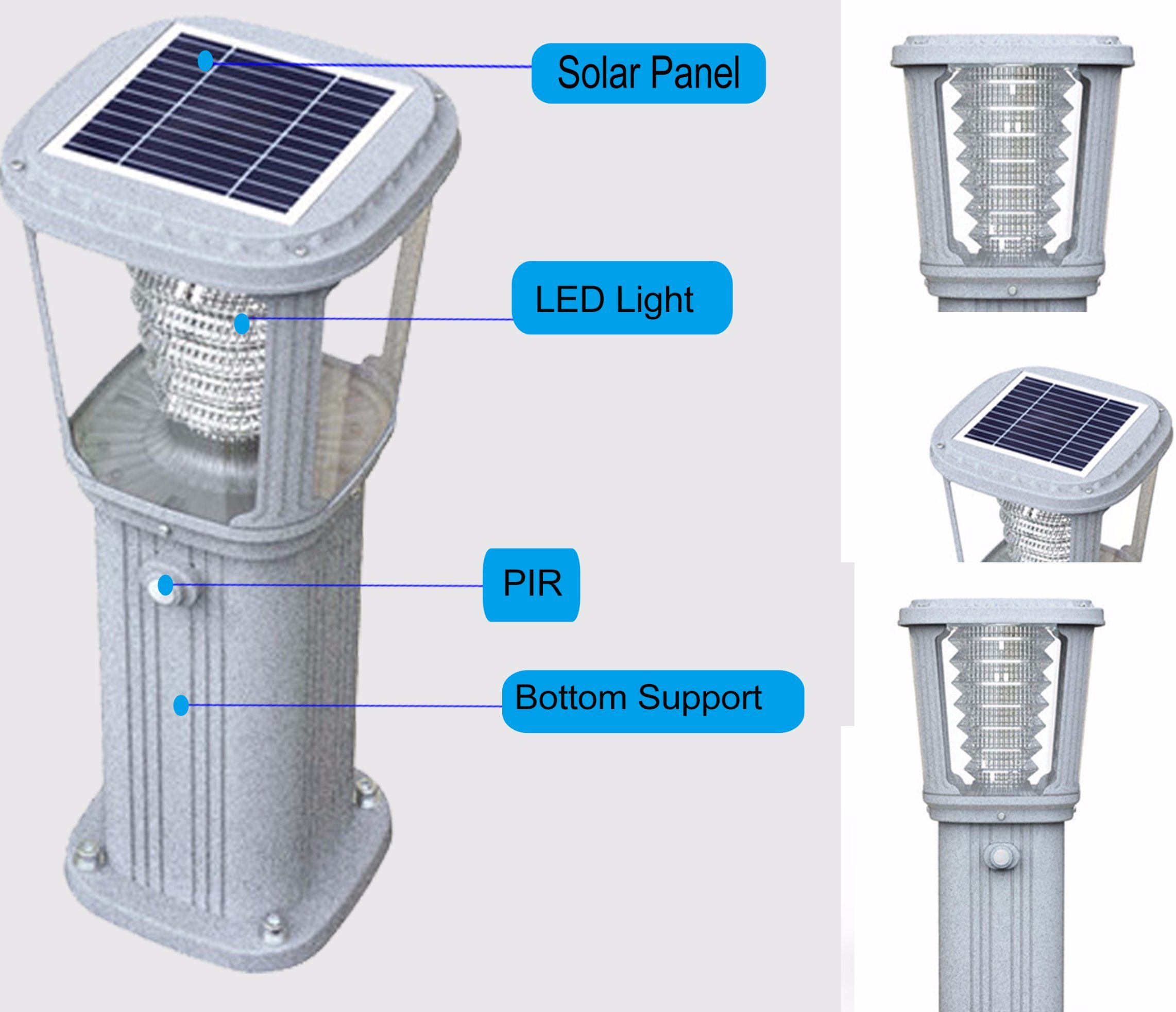 Waterproof Stainless Steel LED Garden Solar Light Decoration