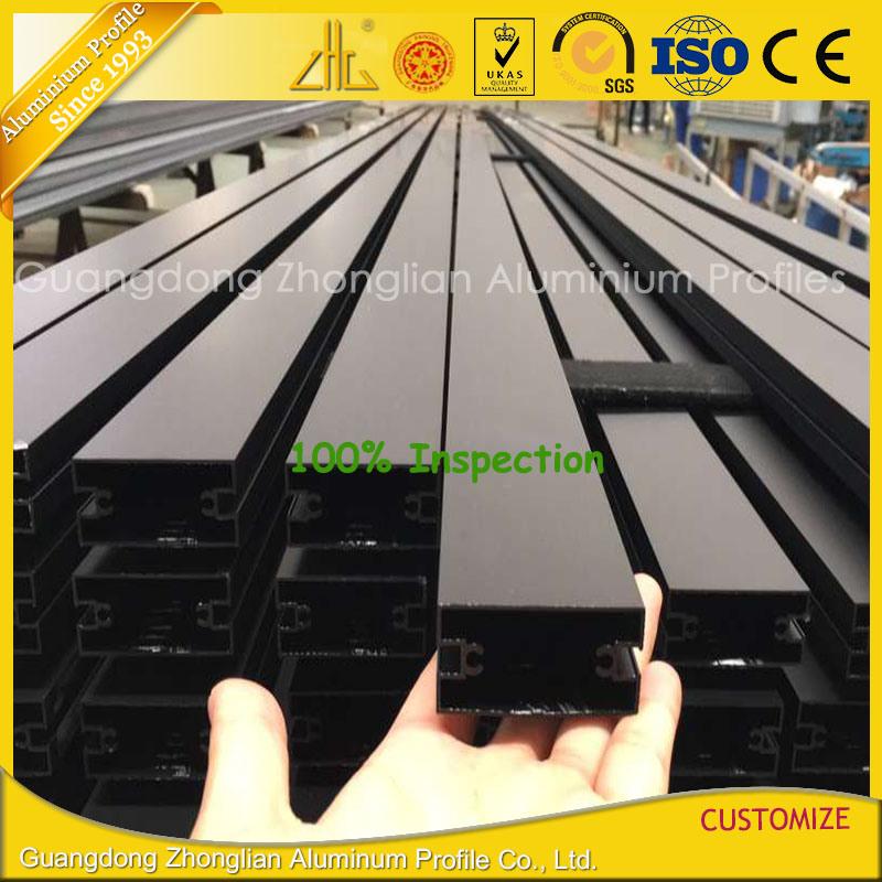 Extruded Anodized Balck Aluminium Extrusion Curtain Wall Profile