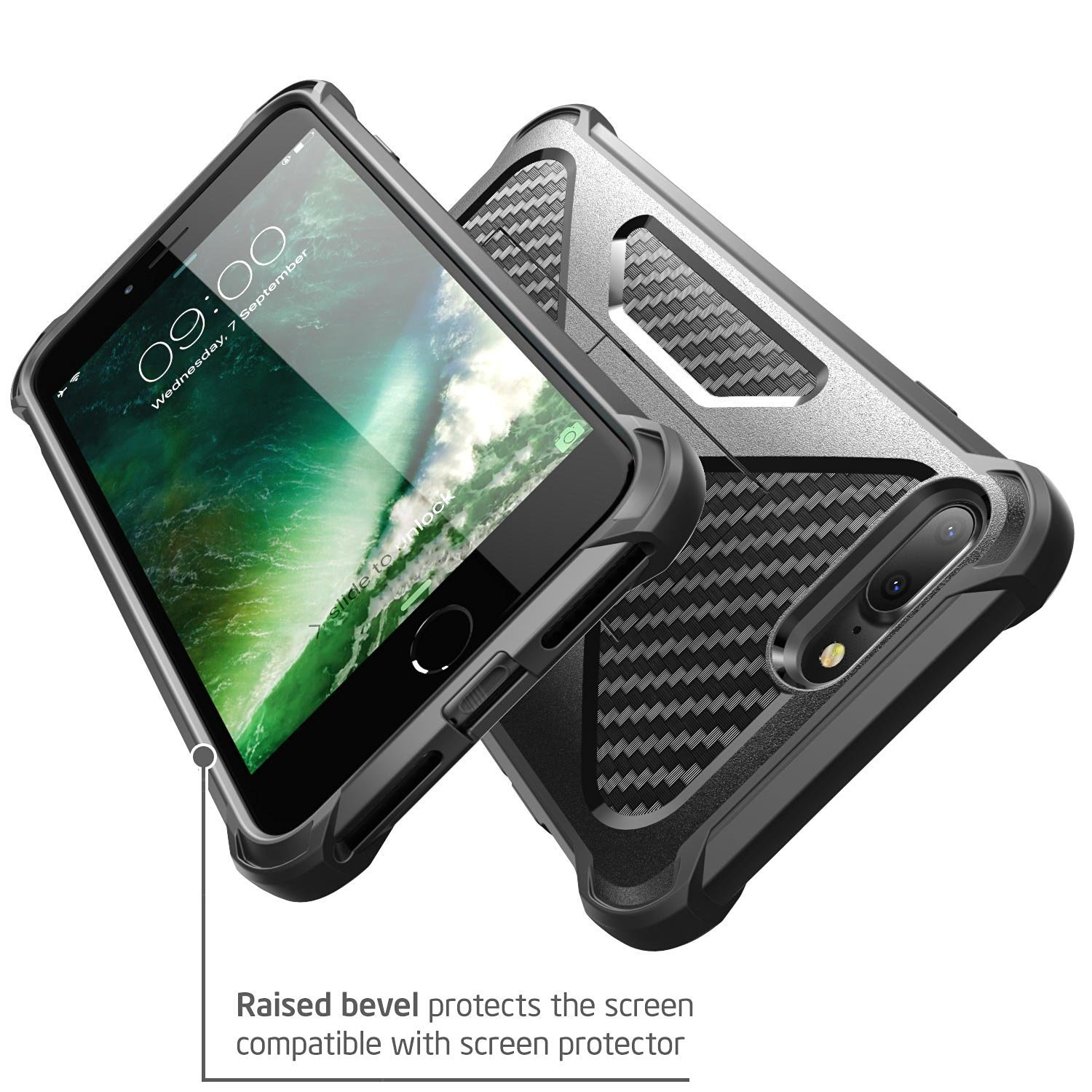 New Release iPhone 7 Transformer Kickstand Combo Case Bumper Cover