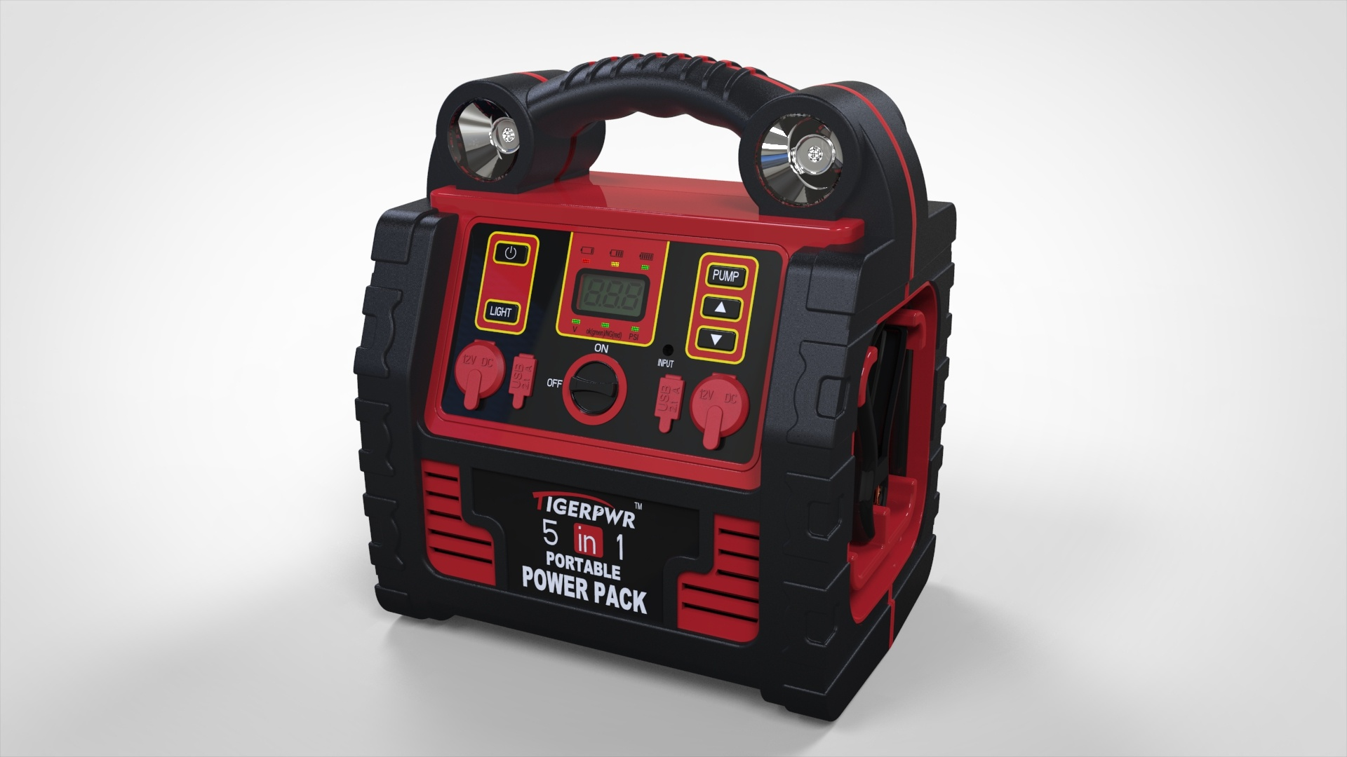 New Multifunction Jump Starter with Digital Display
