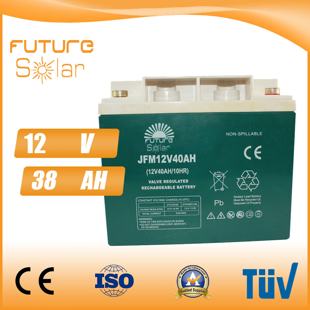 Futuresolar Lead Acid Battery 12V 40ah Solar Panel Rechargeable Battery Green
