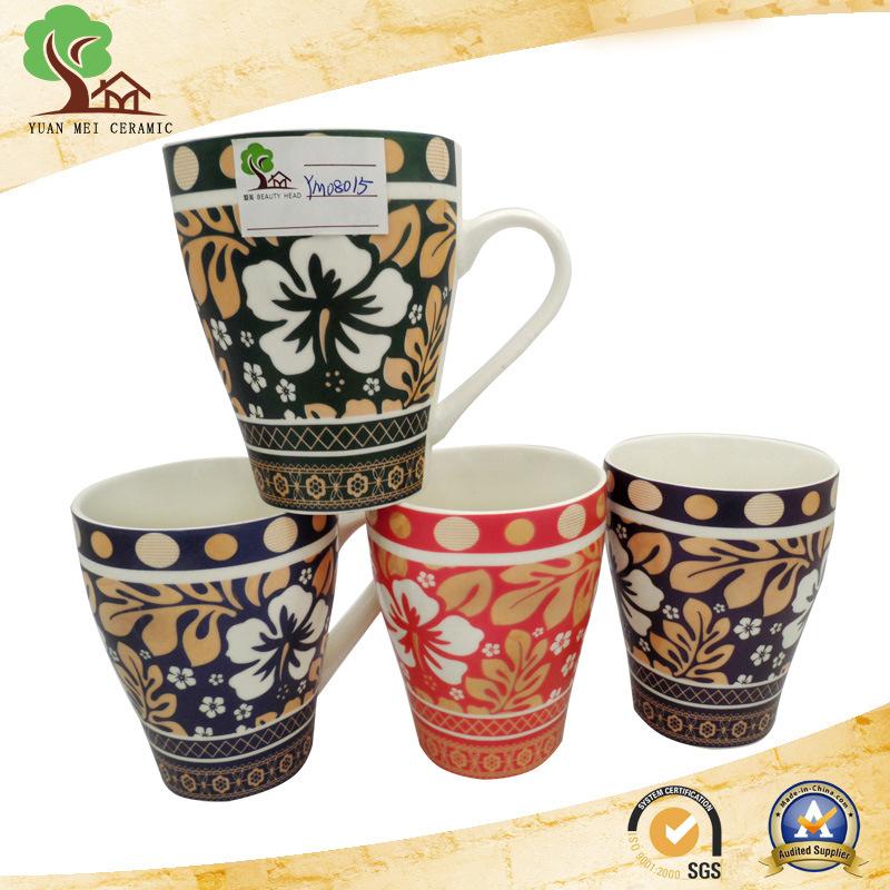 Ceramic Mug with Classic Decorative Pattern