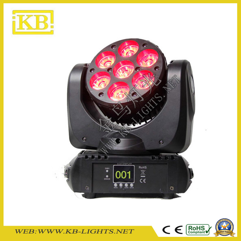 7PCS LED Moving Head Beam Wash Light