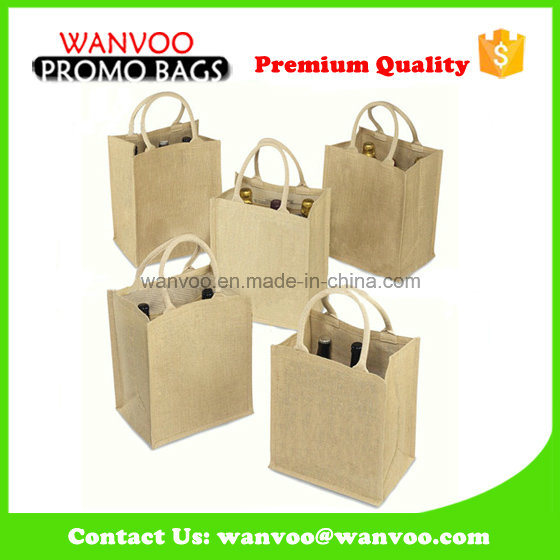 Eco-Friendly Large Shopping Jute Wine Bag for Gift