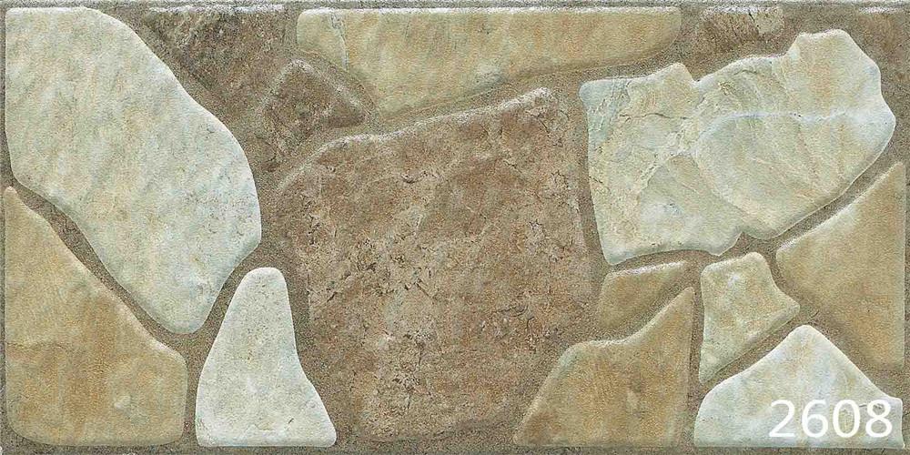 Porcelain Brown Natural Granite Stone Mosaic Exterior Wall Tile (200X400mm)
