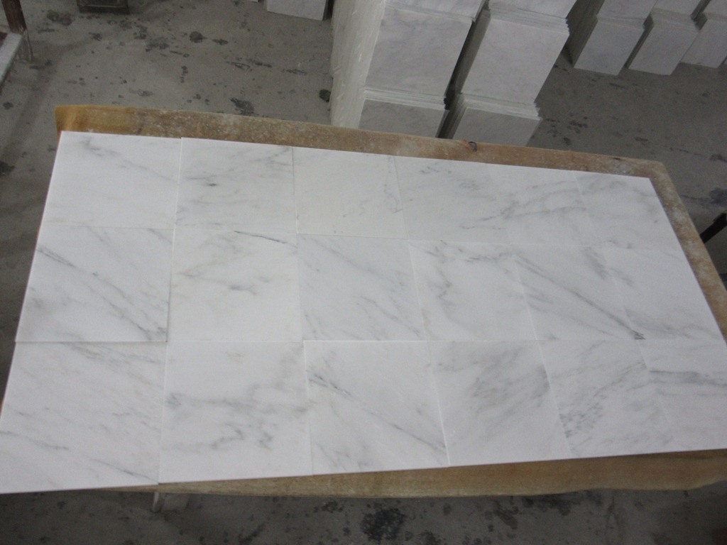 China Honed Oriental White Marble Tile For Bathroom Floor Photos Pictures Made In