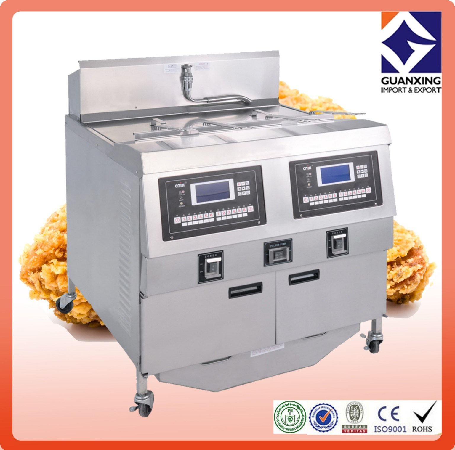 Temperature-Controlled Fryer/Open Fryer/Fast Food Equipment/Electric Open Fryer
