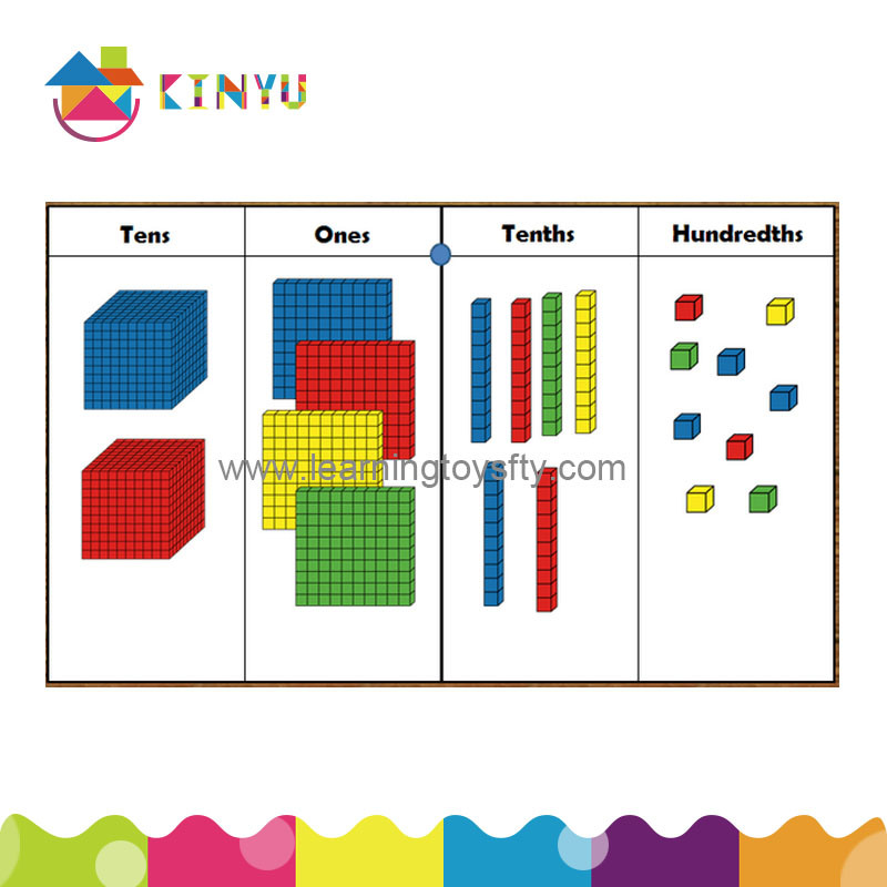 Base Ten Cubes for Math Education (K001)