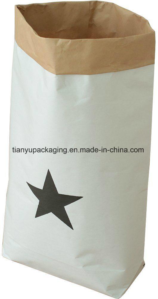 Kraft Paper Storage Bag, Big Size Grocery Bag, Garbage Bag