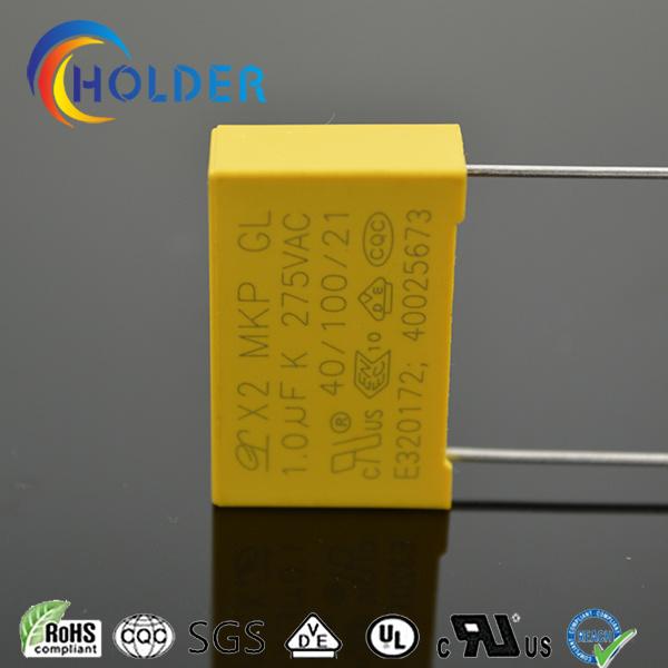 Box Type Metallized Polypropylene Safety Capacitor X2 105k/275V P=22.5 E4 RoHS X2-MKP