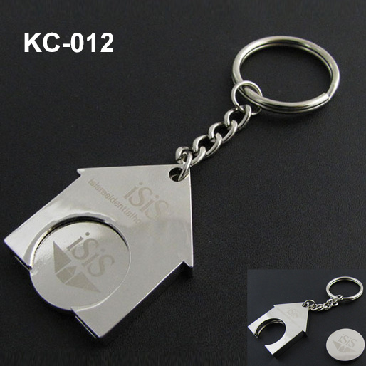 Coin Holder Keychain with Customer Logo