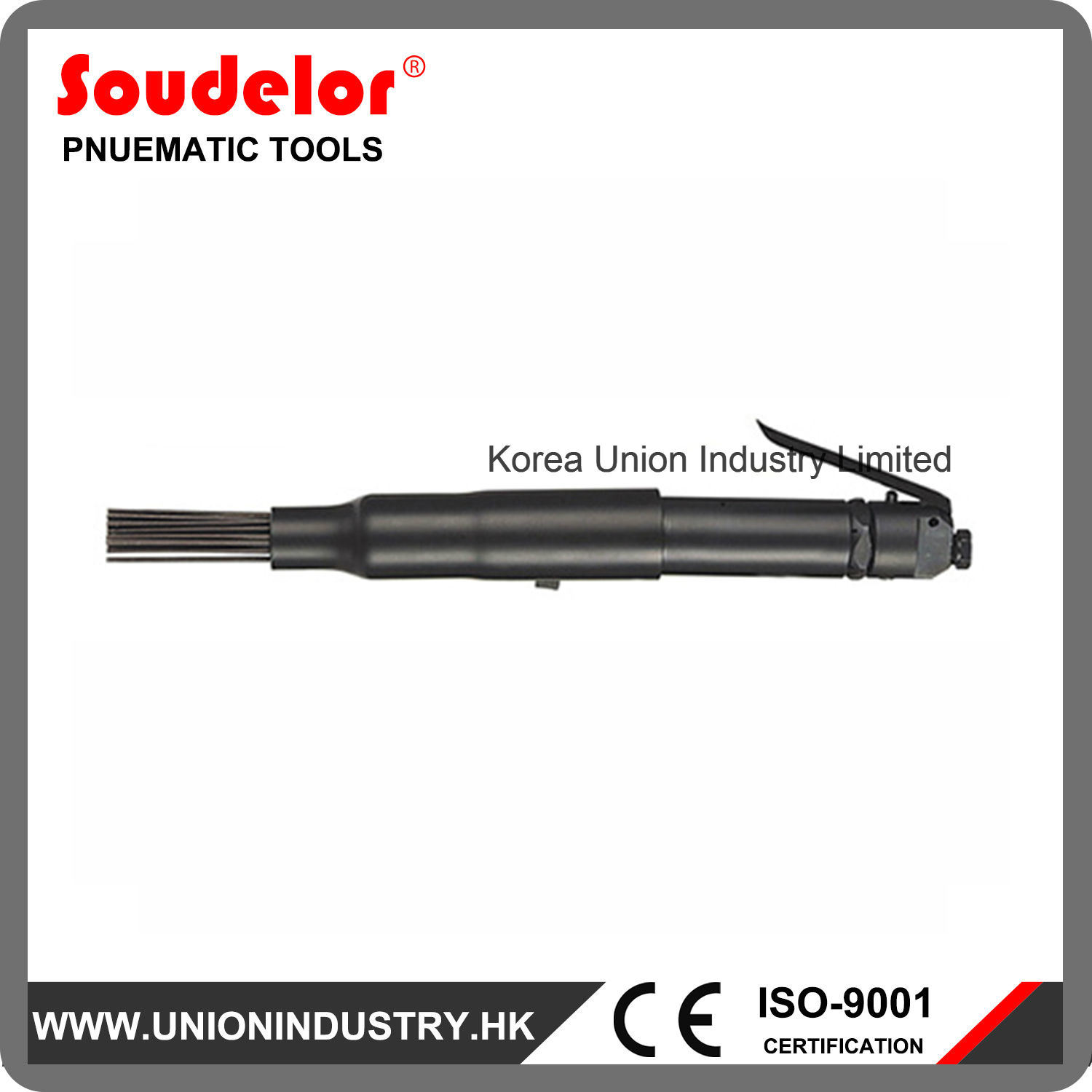 Compact Texas Type Pneumatic Needle Scaler