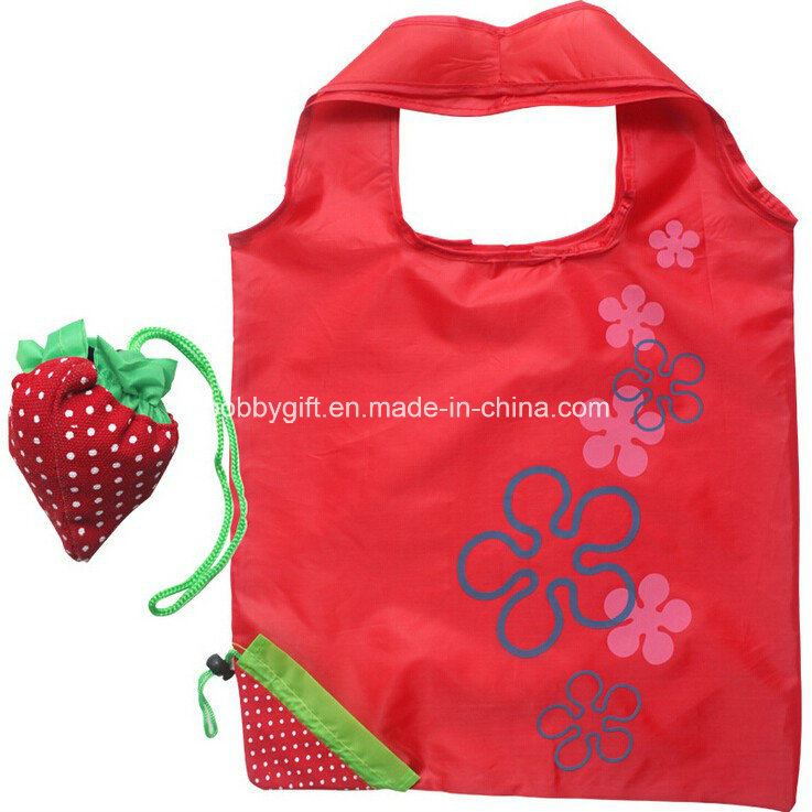 Promotional Item Fruit Foldable Tote Bag Polyester Fabric Shopping Bag