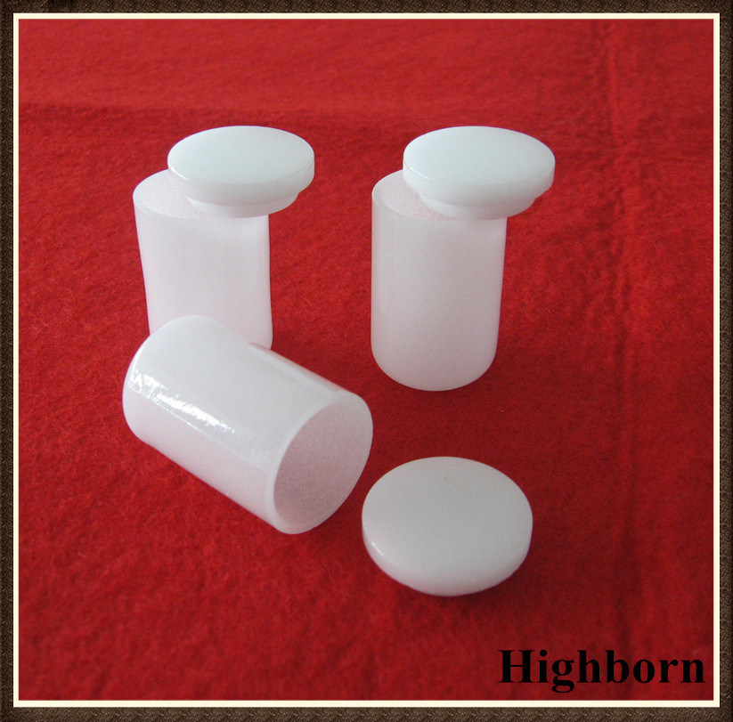 Top Selling Milky White Cylindrical Quartz Crucible with Lid