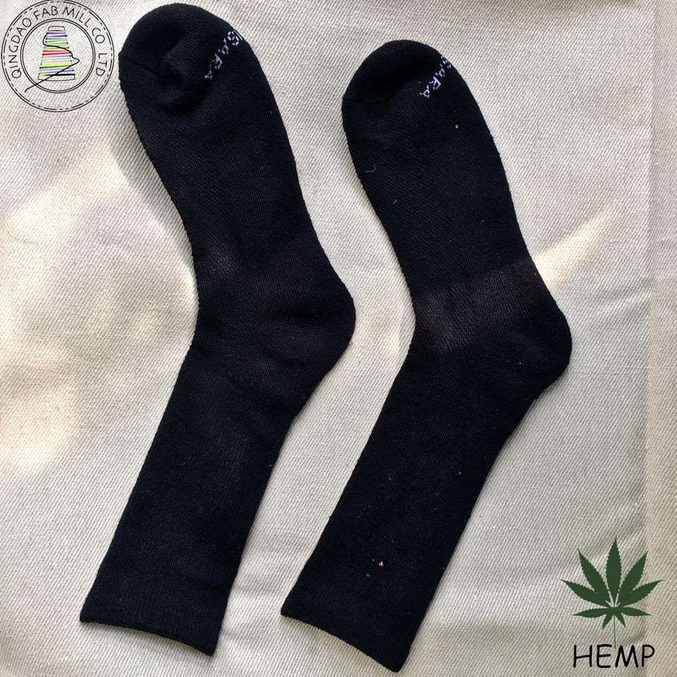 Hemp High or Long Men Hemp Terry Cloth Socks for Wholesale From China (HSTL-1602)