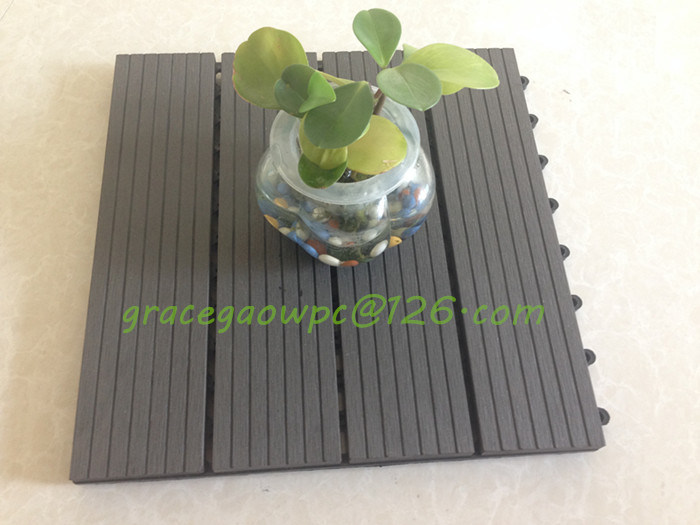 WPC Decking DIY Tiles China Wood Recycle Flooring Tiles Supplier