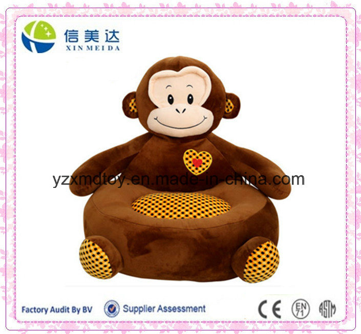 Kid Bean Bag Chair, Kid Bean Bag Sofa, Plush Monkey Shape