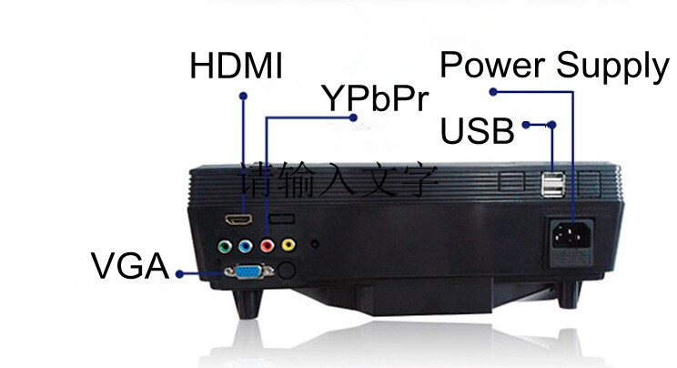 50000hours Portable LCD LED Mini Projector