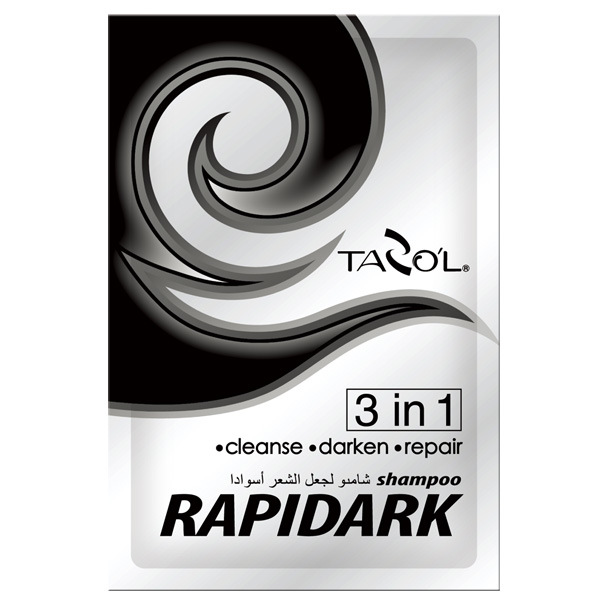 Tazol 15ml*2 in Bags Rapidark Black Color Hair Shampoo