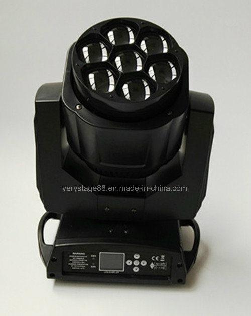 Clay Parky Mini K10 7*15W RGBW LED Bee Eye Zoom Beam Moving Head Light