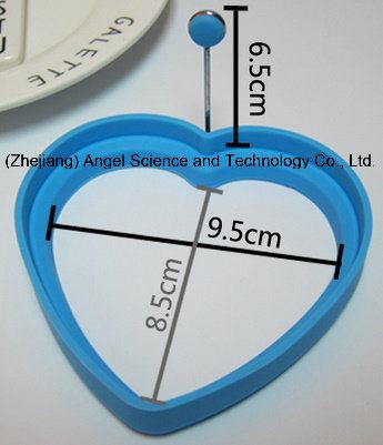 Hot Sale Heart Shape Silicone Egg Mold Silicone Egg Tool Se11