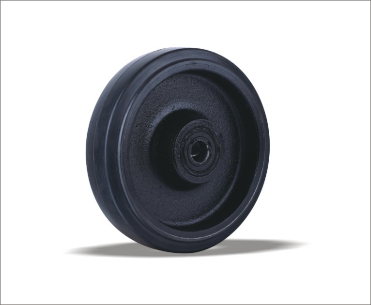 Rubber Wheels With Cast Iron Centre