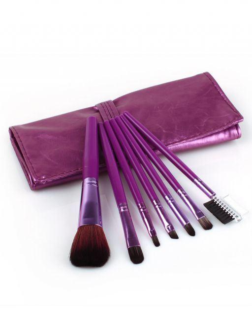 7PCS Portable Brush Kit Makeup Cosmetic Brush Set