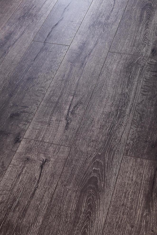High Quality Grey Color HDF Laminate Flooring Embossed-in-Register (EIR)