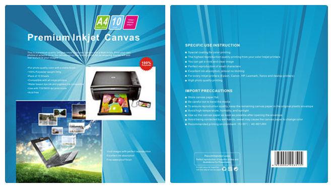 A4 * 10 Sheets Canvas-Photo Paper