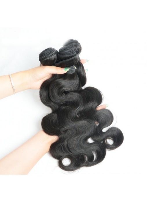 Top Grade Natural Color Wavy Peruvian Virgin Hair Weave Body Wave Human Hair Bundles