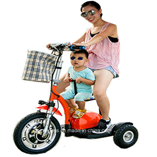 2017 Cheap Three Wheels Electric Scooter with Baby Seats