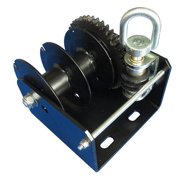 Worm Gear Winch, Cable/Strap Optional, Single or Split, H-2000kt