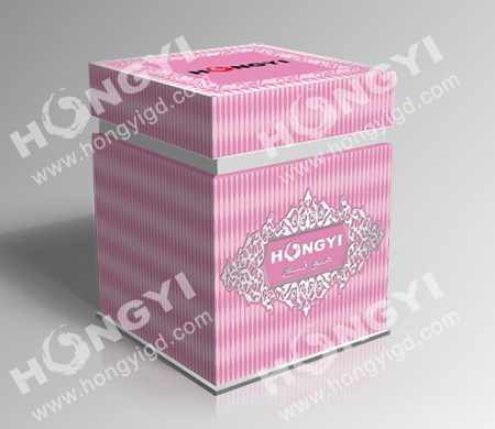 Pink Embossed Art Paper Perfume Box for Gift Packaging (HYP013)