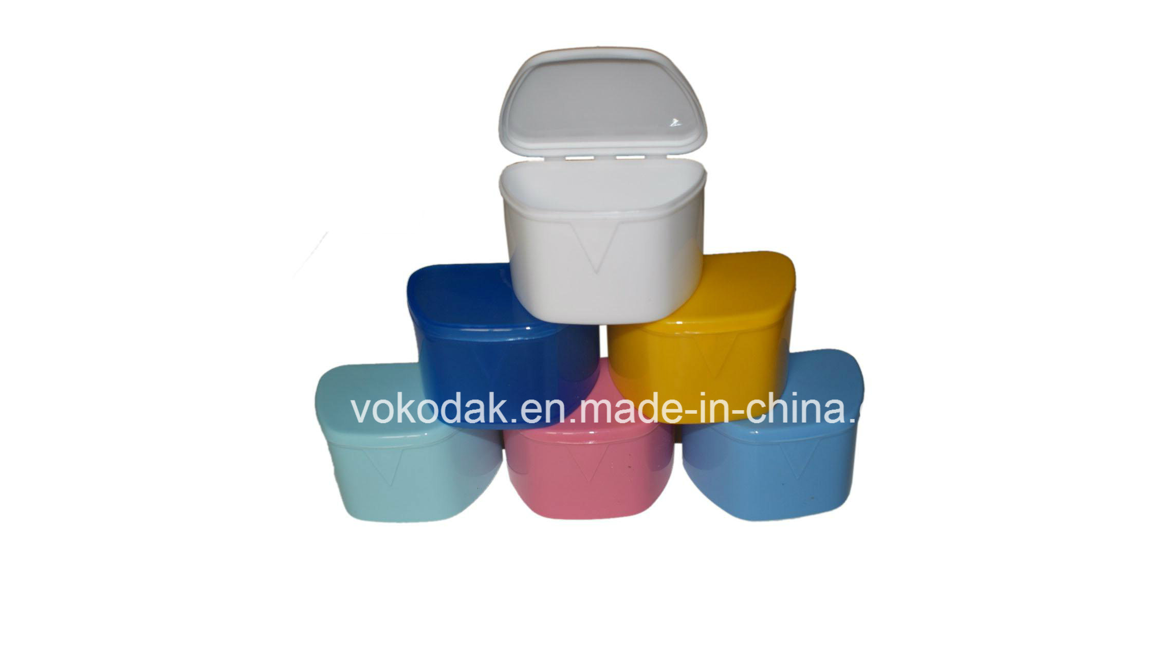 Plastics Colorful Denture Placed Box Dental Equipment