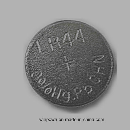 Zinc Manganese Oxide 0% Hg Button Cell Lr44 Battery