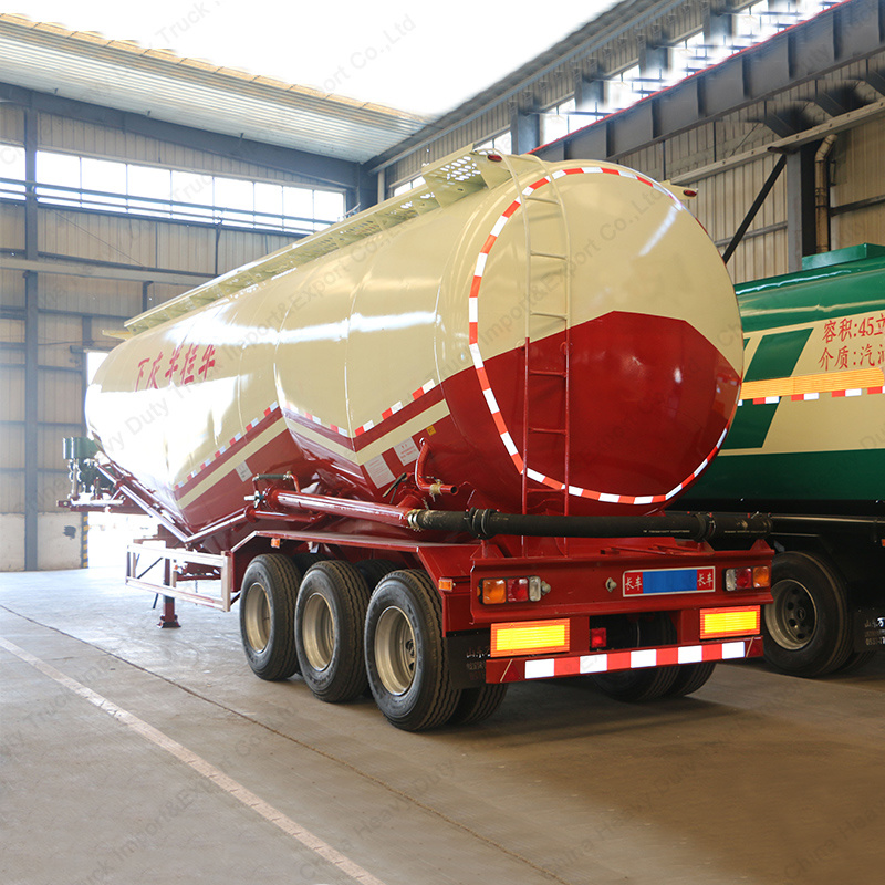 3 Axle 30t Tank/Tanker Semi Trailer for Transportation Bulk Cement