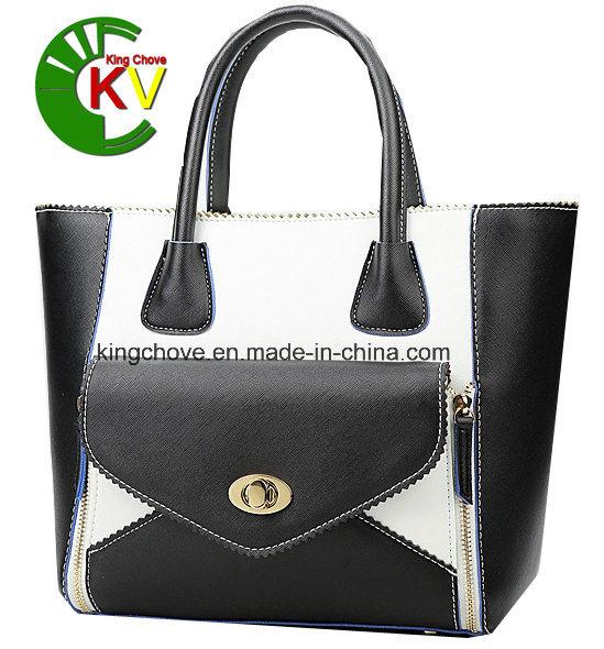 Latest Fashion Contrast PU Ladies Handbag (KCH159-1)