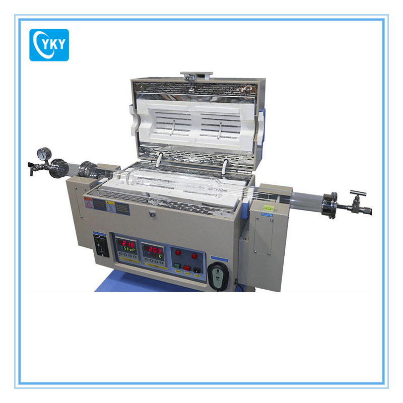 Touch Screen Two Zone Tilting Vacuum Tube Furnace for Calcining Inorganic Compound