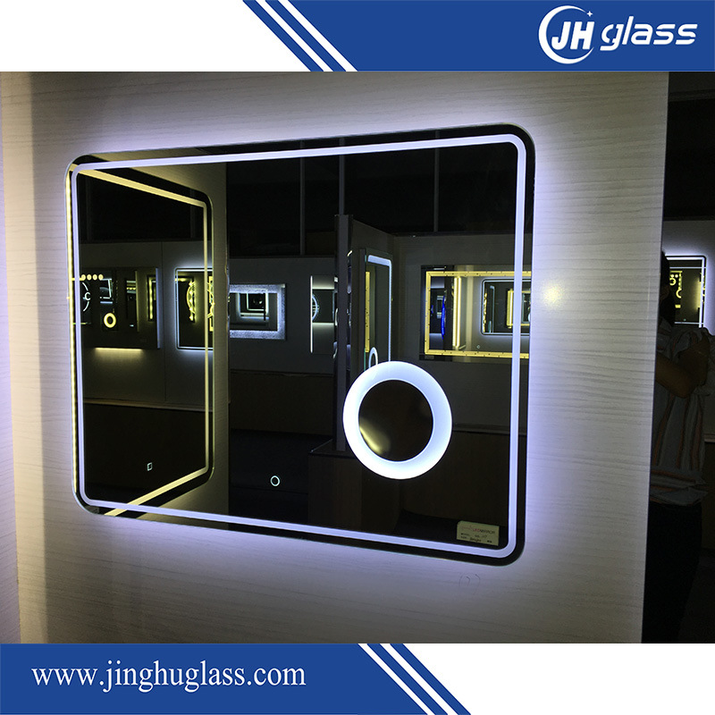 Hotel Bathroom Framless LED Backlit Mirror with Infrared Sensor
