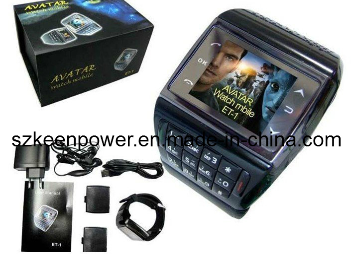 Avatar Et-1 Quadband Touch Screen Watch Mobile Phone