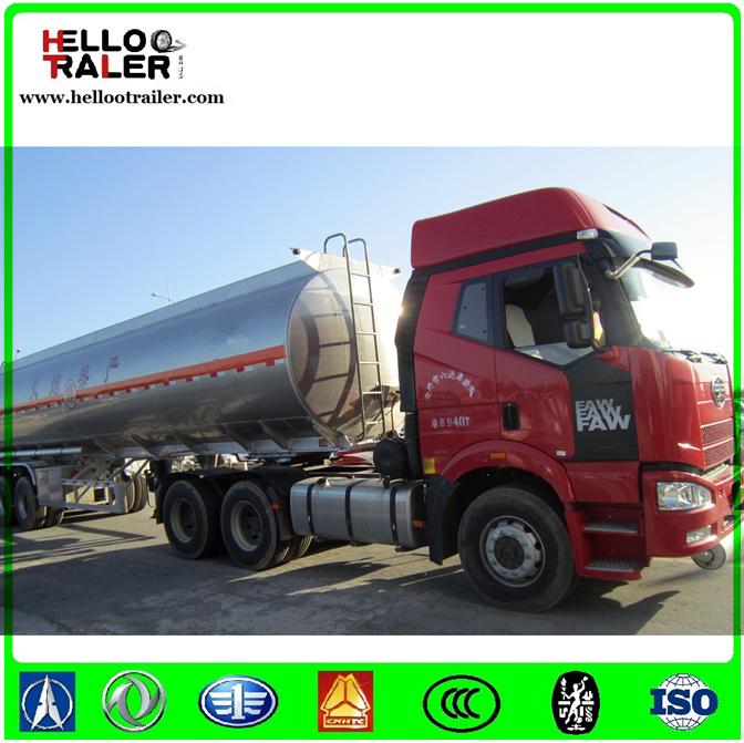 China Supplier 50000 Liters Fuel Tank Semi Trailer Fuel Tanker Trailer