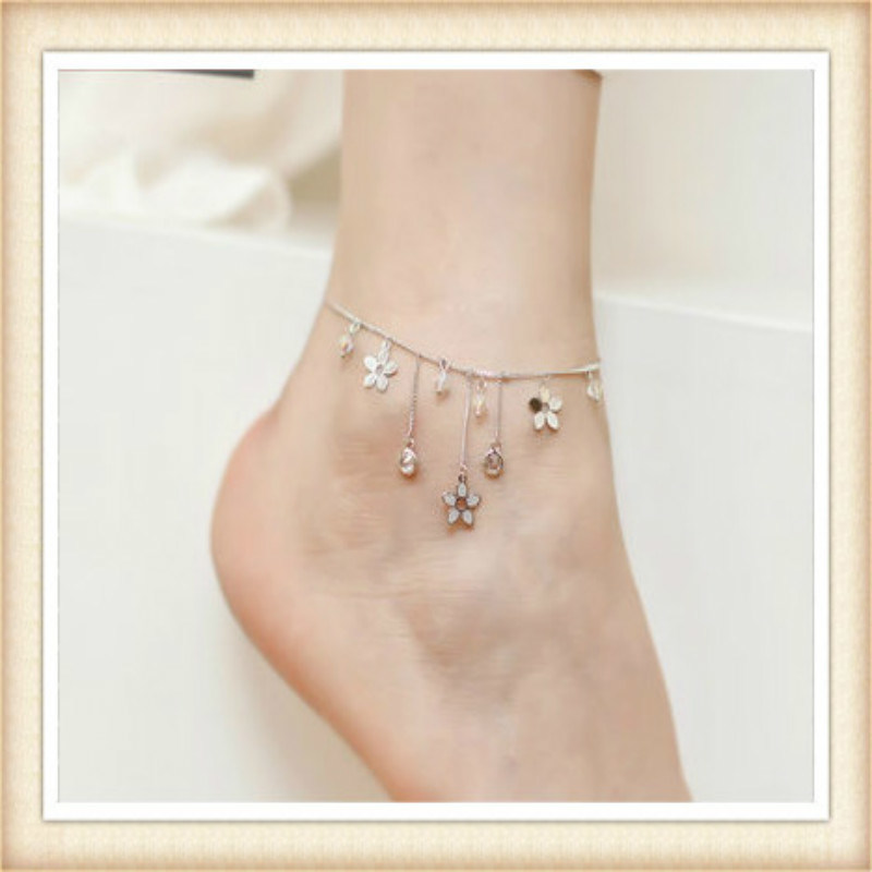 New Design Epoxy Flower Fashion Jewellery Anklets