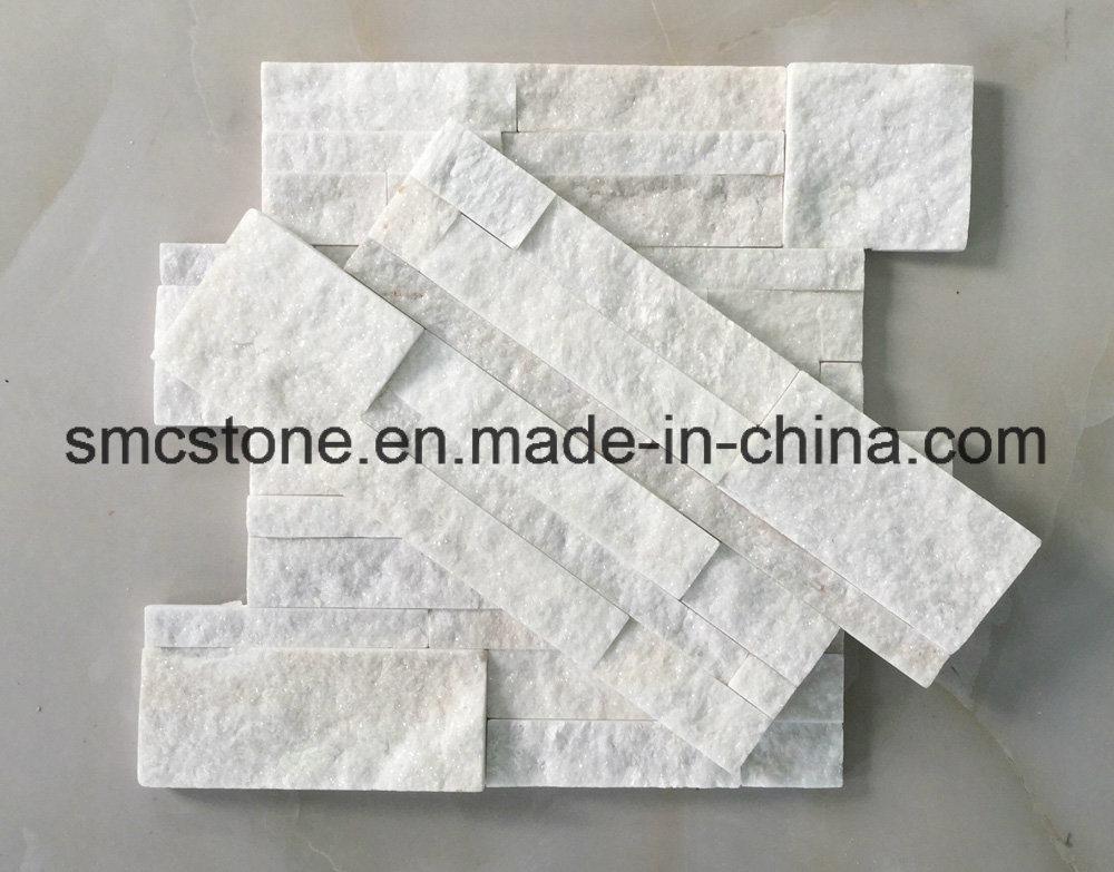 18*35cm China Natural White Quartzite Stacked Culture Stone