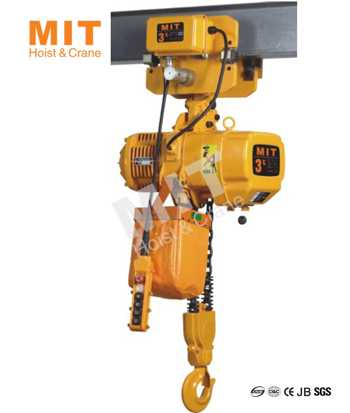 China Mit Electric Chain Hoist 3t With Electric Trolley 2