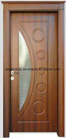Economical Interior Wooden Rounded MDF PVC Door (EI-P057)