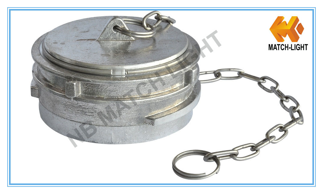 Aluminum Guillemin Plug with Chain Type Fire Hose Coupling