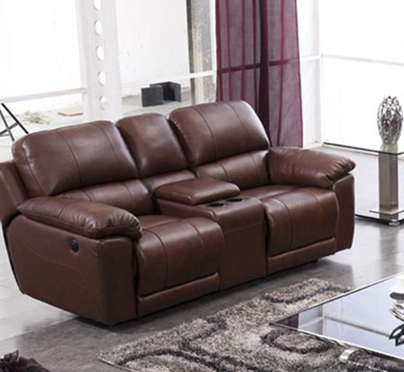 electric recliner leather sofa 910 - Reclining Leather Sofa