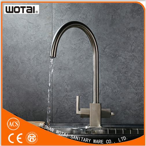 Dual Handle Swivel Kitchen Tap Sink Water Tap (WT1002BN-KF)