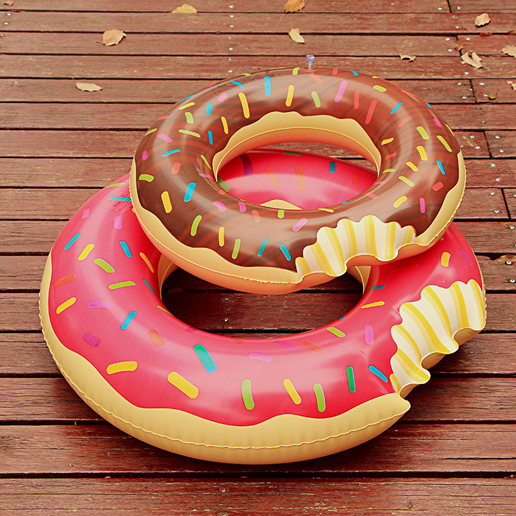 Inflatable Donut, Pool Floats, Pool Flamingos Dounut Swimming Ring