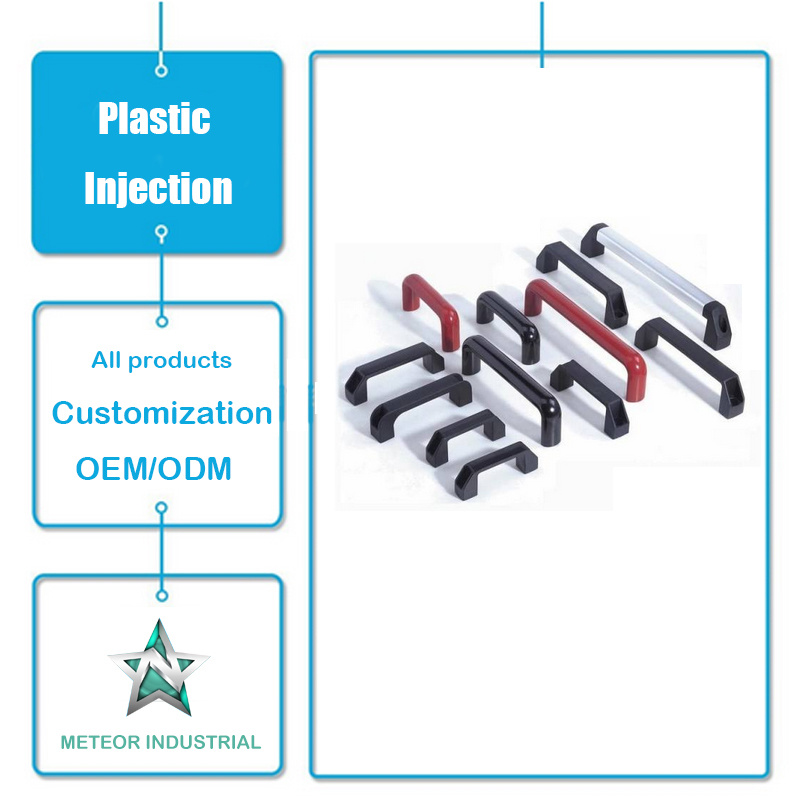 Customized Plastic Injection Moulding Products Furniture Accessories Plastic Door Handle